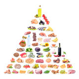 Food for every taste isolated Royalty Free Stock Images