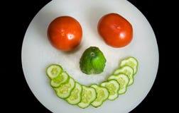 Food face Royalty Free Stock Photos