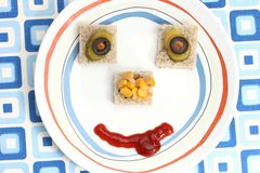 Food face Stock Images