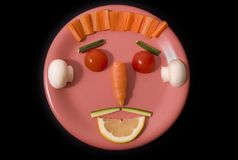 Food face stock photography