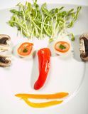 Food face concept Royalty Free Stock Photos