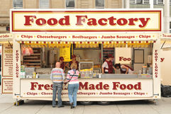Food Factory. Stand at the Armed Forces Day in Nottingham, England (25th May 2011 Stock Photo