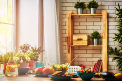 Food for a family dinner Royalty Free Stock Images