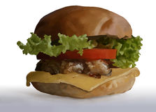 Food, fast food, burgers, salads, chicken, steak, cheese, tomato Royalty Free Stock Photography