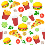 Food fast icon pattern Stock Images