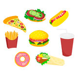 Food fast icon sandwich Stock Photography