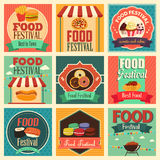 Food festival icons. A vector illustration of food festival icon sets Stock Photos