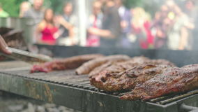 Food festival stock video footage