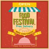 Food Festival Retro Poster Stock Images