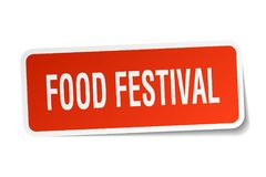 Food festival sticker. Food festival square sticker isolated on white background Stock Photos