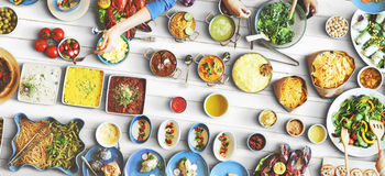 Food Festive Restaurant Party Unity Concept Royalty Free Stock Images
