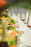 Food on Festive Table Royalty Free Stock Photography