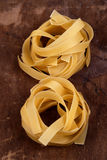 Food - Fettucine Nests Stock Images