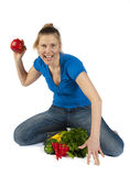 Food fight Royalty Free Stock Photo