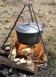 Food on the fire Royalty Free Stock Photos