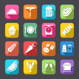 Food Flat Icons Collection 2 Royalty Free Stock Photography
