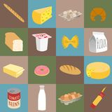Food flat icons Royalty Free Stock Image