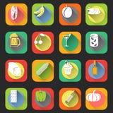 Food Flat Icons Royalty Free Stock Photos