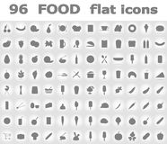 Food flat icons vector illustration Royalty Free Stock Photo