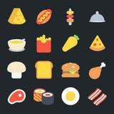 Food Flat Icons Royalty Free Stock Photo