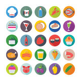 Food Flat Vector Icons 3 Stock Image