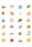 Food Flat Vector Icons 2 Royalty Free Stock Photography