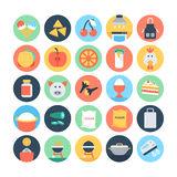 Food Flat Vector Icons 1 Royalty Free Stock Images