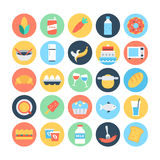 Food Flat Vector Icons 3 Royalty Free Stock Image