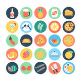 Food Flat Vector Icons 5 Stock Image