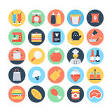 Food Flat Vector Icons 4 Stock Photography