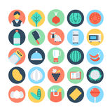 Food Flat Vector Icons 10 Royalty Free Stock Photo