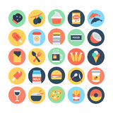 Food Flat Vector Icons 12. Feeling Hungry? Your hunger solution is here! You'll love to use this Food Vector Icons set for your restaurant and food projects Stock Images