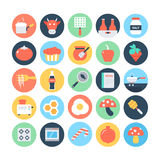 Food Flat Vector Icons 9. Feeling Hungry? Your hunger solution is here! You'll love to use this Food Vector Icons set for your restaurant and food projects Royalty Free Stock Images