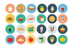 Food Flat Vector Icons 3 Royalty Free Stock Photos
