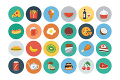 Food Flat Vector Icons 2 Stock Photo