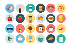 Food Flat Vector Icons 4 Stock Photo