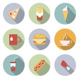 Food Flat Vector Icons Royalty Free Stock Image