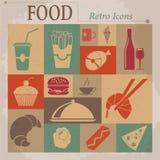 Food Flat Vector Retro Icons Stock Photo