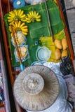 Food at floating market near Bangkok, Thailand. stock image