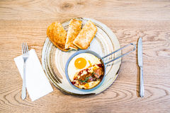 Food. Foog breakfast egg ang bread Royalty Free Stock Photography