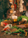 Food For A Large Feast Royalty Free Stock Image