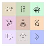 Food , fork , spoon , knife, plate , badge , cake , home , disl. Ike , heart , icon, vector, design, flat, collection, style, creative, icons - This Vector EPS vector illustration