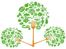 Food fork tree Stock Photo