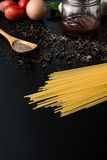 Food frame. Pasta ingredients. Royalty Free Stock Photography