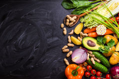 Food frame with vegetables Royalty Free Stock Photo