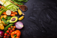 Food frame with vegetables Royalty Free Stock Photos