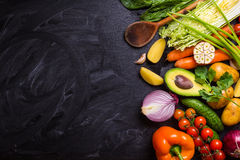 Food frame with vegetables Stock Image