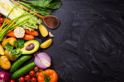 Food frame with vegetables Stock Photo