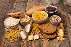 Food free gluten. Selection of food free gluten Royalty Free Stock Photography