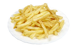 Food french fries in plate Royalty Free Stock Photography